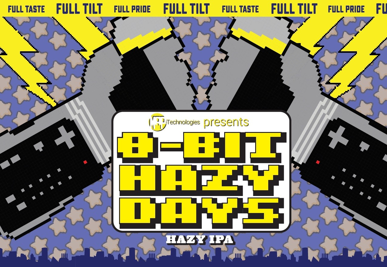 8-Bit Hazy Days Beer Collab With Full Tilt Brewing Company